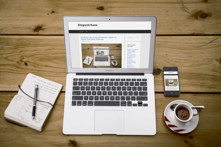 Mockups van je site op telefoon, tablet en laptop met Magic Mockups